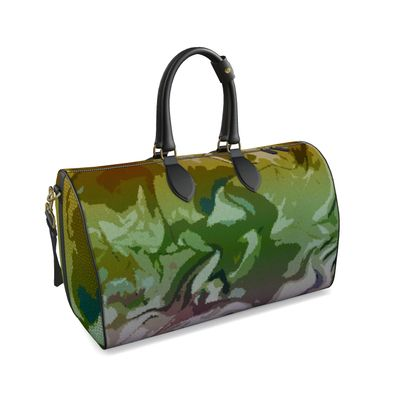 Large Duffle Bag - Honeycomb Marble Abstract 4
