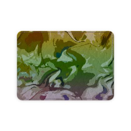 Leather Card Case - Honeycomb Marble Abstract 4