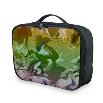Lunch Bags - Honeycomb Marble Abstract 4