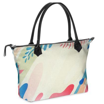 Zip Top Handbag- Emmeline Anne Colours of the Sea Cream