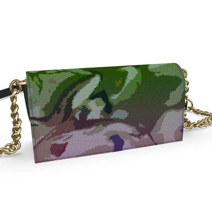 Oana Evening Bag - Honeycomb Marble Abstract 4