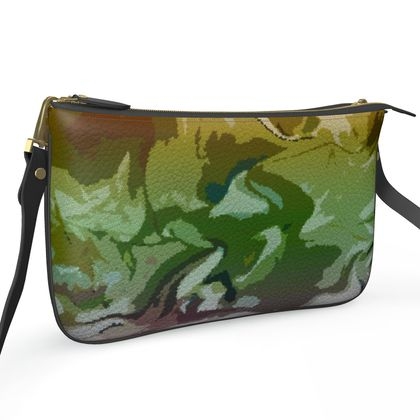 Pochette Double Zip Bag - Honeycomb Marble Abstract 4
