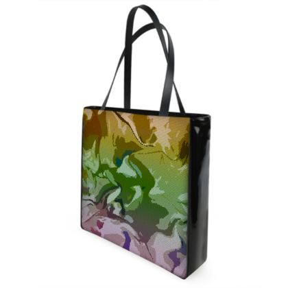 Shopper Bags - Honeycomb Marble Abstract 4