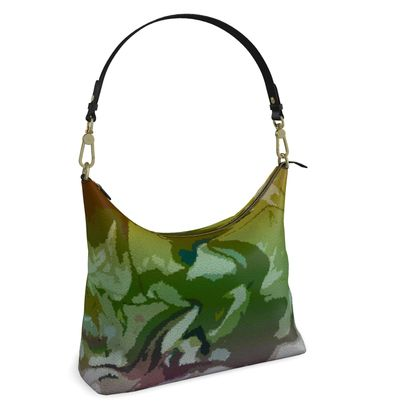 Square Hobo Bag - Honeycomb Marble Abstract 4