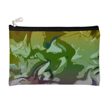 Zip Top Pouch - Honeycomb Marble Abstract 4