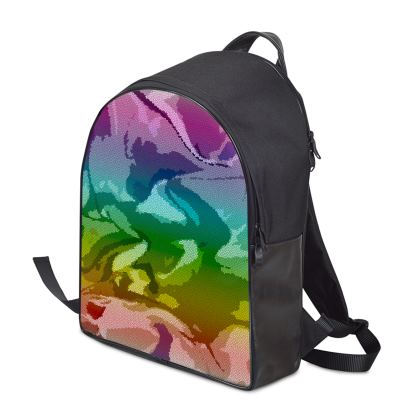 Backpack - Honeycomb Marble Abstract 5