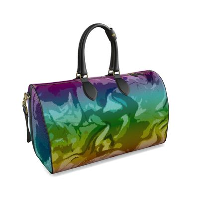 Large Duffle Bag - Honeycomb Marble Abstract 5