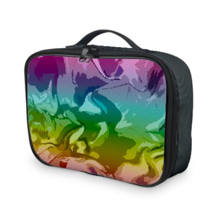 Lunch Bags - Honeycomb Marble Abstract 5