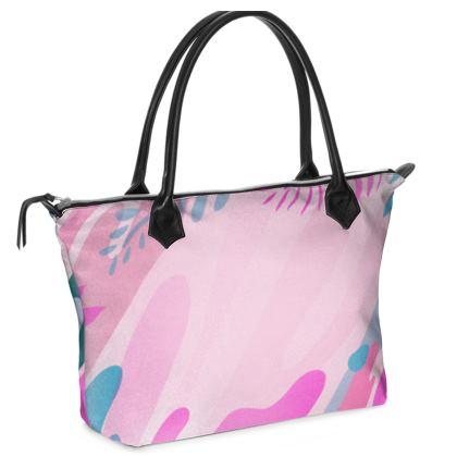 Zip Top Handbag Emmeline Anne Colours of the Sea Pink