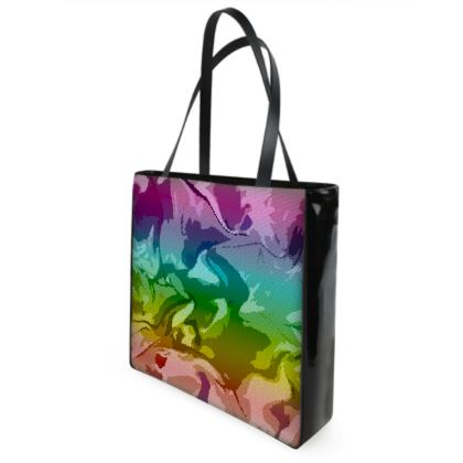 Shopper Bags - Honeycomb Marble Abstract 5