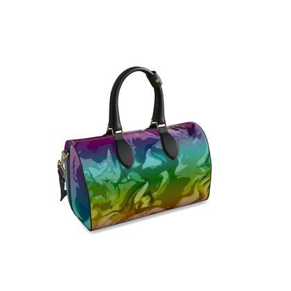 Small Duffle Bag - Honeycomb Marble Abstract 5