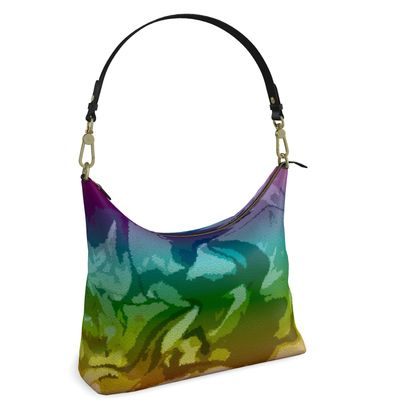 Square Hobo Bag - Honeycomb Marble Abstract 5