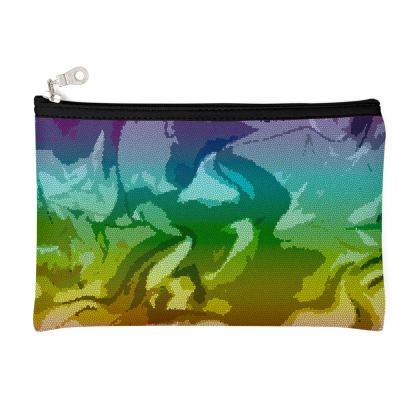 Zip Top Pouch - Honeycomb Marble Abstract 5