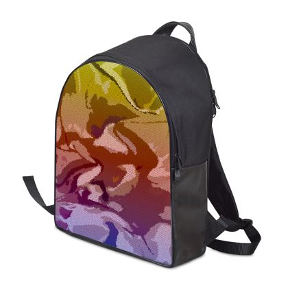 Backpack - Honeycomb Marble Abstract 6