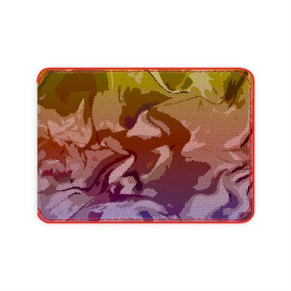 Card Holder - Honeycomb Marble Abstract 6