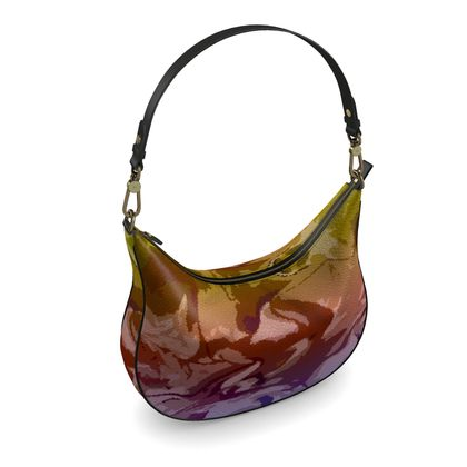 Curve Hobo Bag - Honeycomb Marble Abstract 6