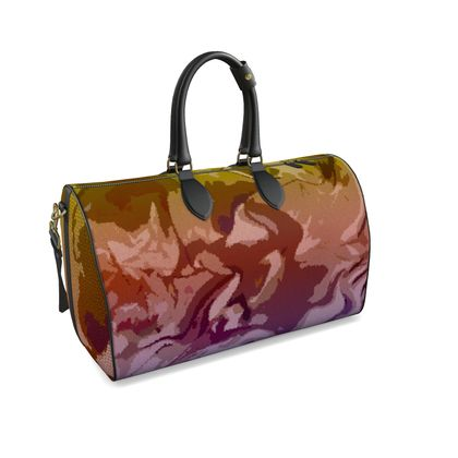 Large Duffle Bag - Honeycomb Marble Abstract 6