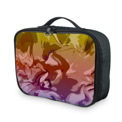 Lunch Bags - Honeycomb Marble Abstract 6