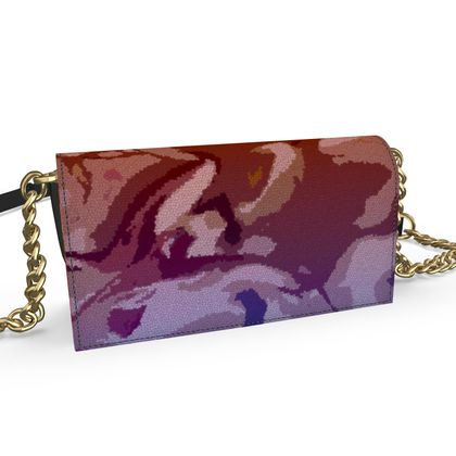 Oana Evening Bag - Honeycomb Marble Abstract 6