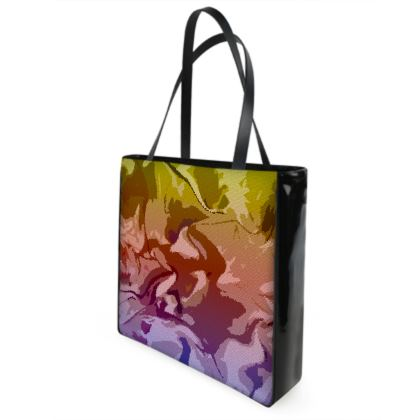 Shopper Bags - Honeycomb Marble Abstract 6