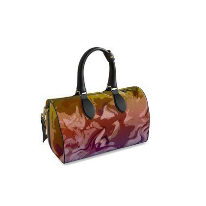 Small Duffle Bag - Honeycomb Marble Abstract 6