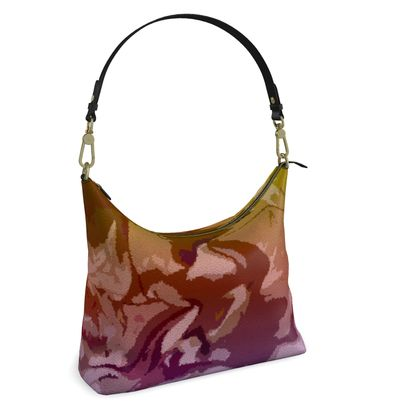 Square Hobo Bag - Honeycomb Marble Abstract 6