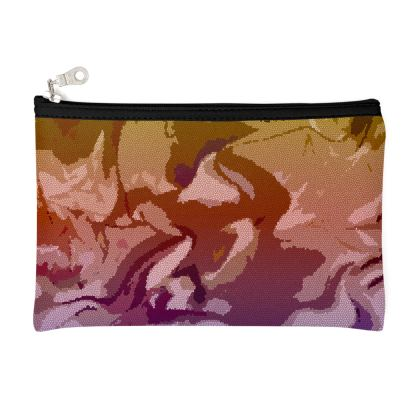 Zip Top Pouch - Honeycomb Marble Abstract 6