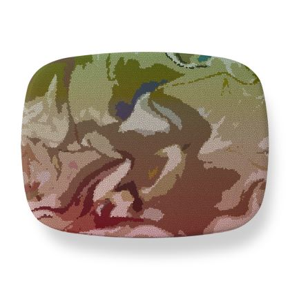 Lunch Box - Honeycomb Marble Abstract 2