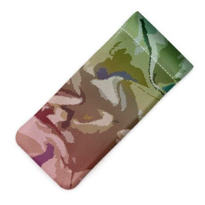 Glasses Case Pouch - Honeycomb Marble Abstract 2