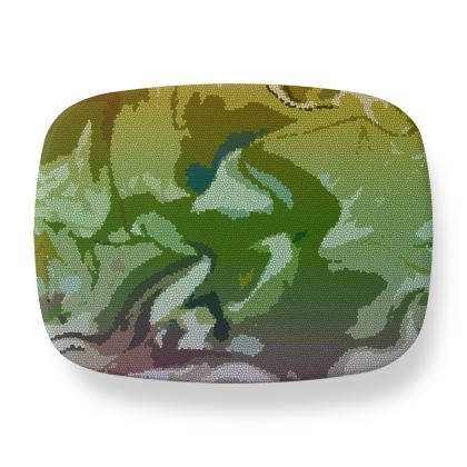 Lunch Box - Honeycomb Marble Abstract 4