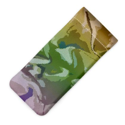 Glasses Case Pouch - Honeycomb Marble Abstract 4