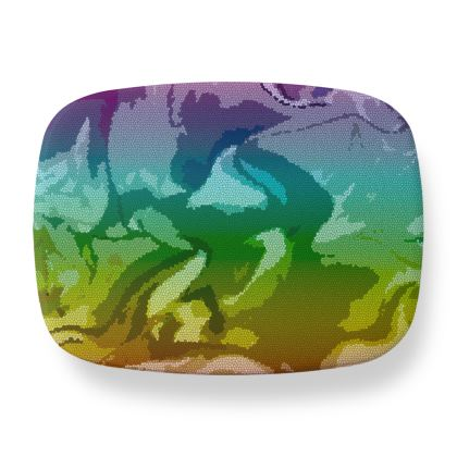 Lunch Box - Honeycomb Marble Abstract 5
