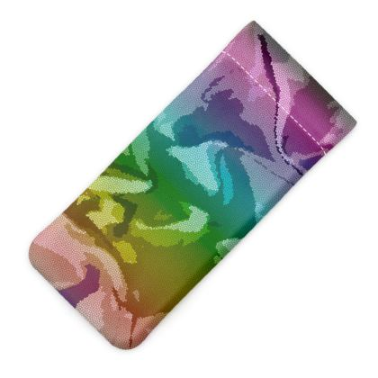 Glasses Case Pouch - Honeycomb Marble Abstract 5