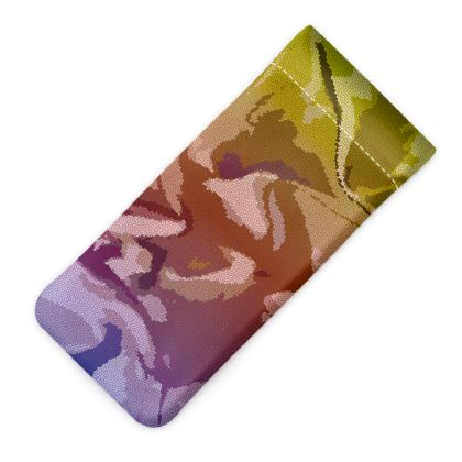 Glasses Case Pouch - Honeycomb Marble Abstract 6