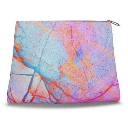 Clutch Bag - in the PINK GRAFFITI CANDY MARBLE design!