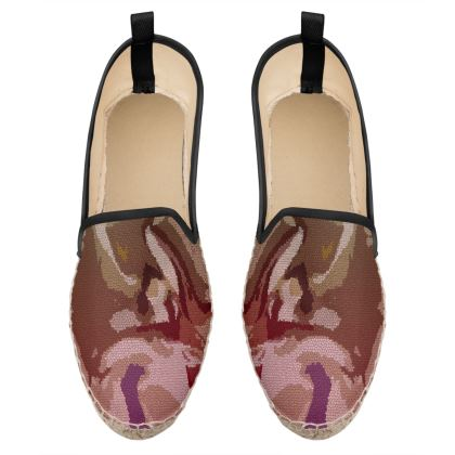 Loafer Espadrilles - Honeycomb Marble Abstract 2