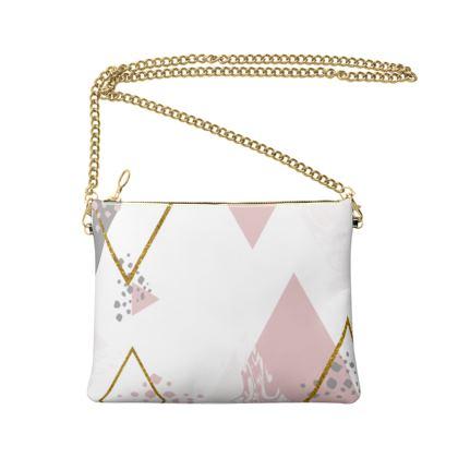 Crossbody Bag With Chain- Emmeline Anne Pink Diamonds