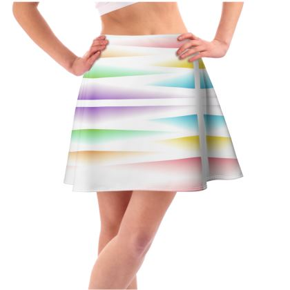 Flared Skirt- Rays of Rainbow