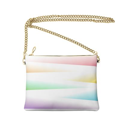 Crossbody Bag With Chain- Emmeline Anne Rays of Rainbow