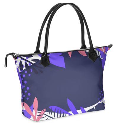 Zip Top Handbag- Emmeline Anne Touch of Florals