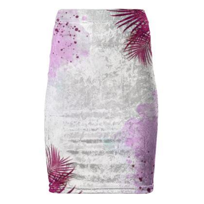 Pencil Skirt- Emmeline Anne Red Palms