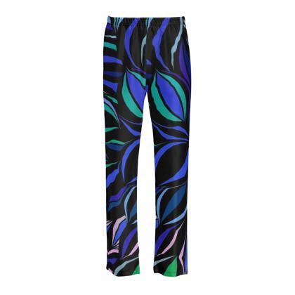 pantaloni pigiama in seta linea Riflessi mare