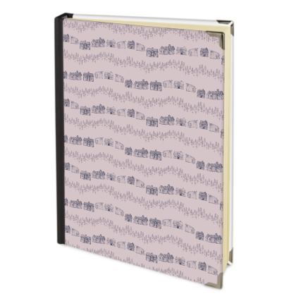 Scandinavian Houses patterned hygge handbound journal