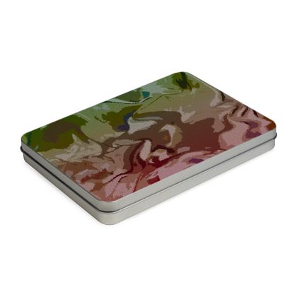 Pencil Case Box - Honeycomb Marble Abstract 2