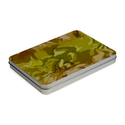 Pencil Case Box - Honeycomb Marble Abstract 3