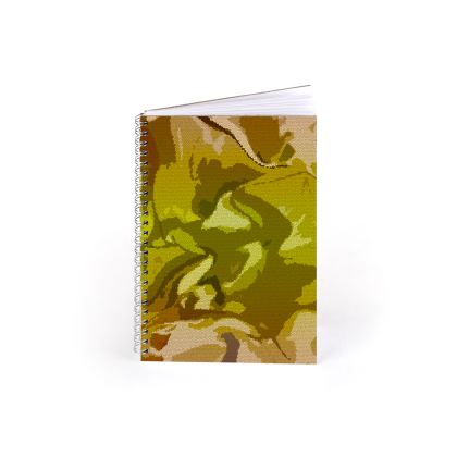 Spiral Note Books - Honeycomb Marble Abstract 3