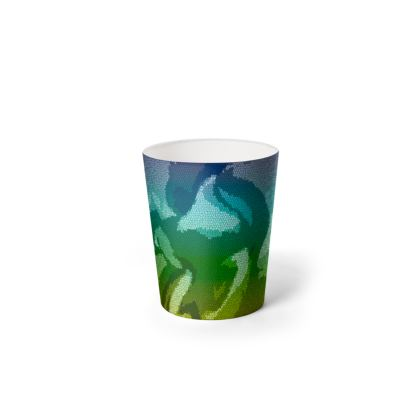 Waste Paper Bin - Honeycomb Marble Abstract 5