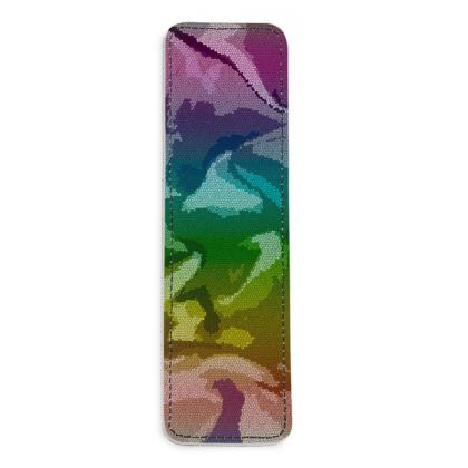 Leather Bookmarks - Honeycomb Marble Abstract 5