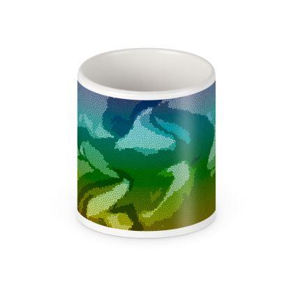 Pen Pot - Honeycomb Marble Abstract 5