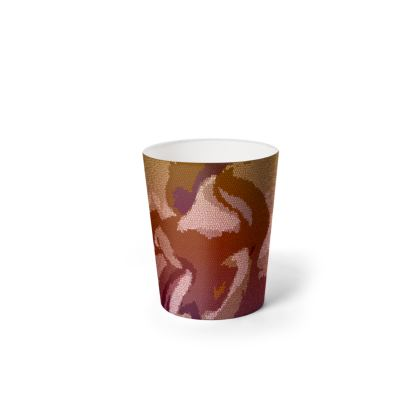 Waste Paper Bin - Honeycomb Marble Abstract 6